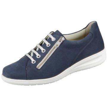 Solidus Komfort Schnürschuh blau