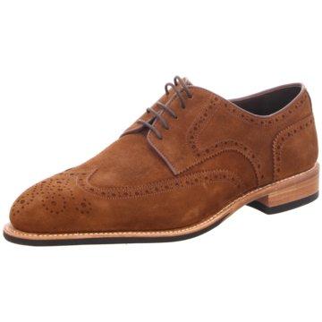 Prime Shoes Eleganter Schnürschuh braun