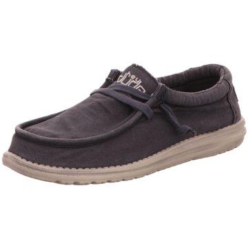 Hey Dude Shoes Mokassin Schnürschuh blau