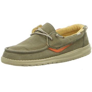 Hey Dude Shoes Mokassin SchnürschuhWelsh Washed grün