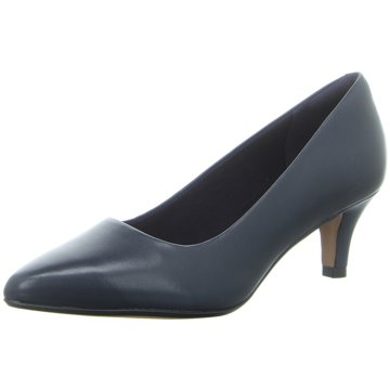 Clarks Flacher Pumps blau