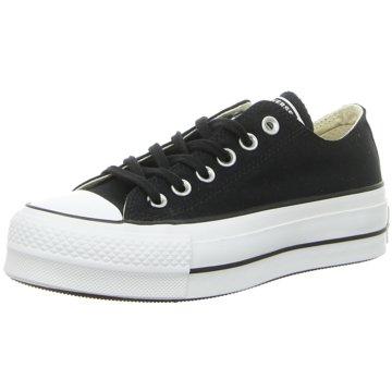 Converse Plateau Sneaker schwarz