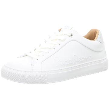 Pepe Jeans Sneaker LowAdams Logo weiß