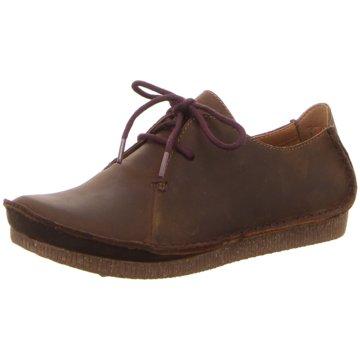 Clarks Komfort Schnürschuh braun