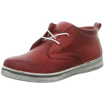 Andrea Conti Sportlicher Schnürschuh rot