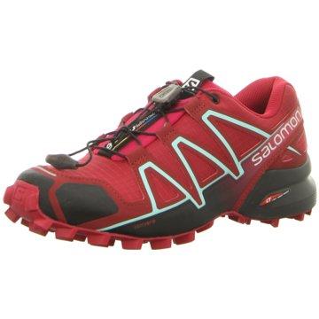 Salomon TrailrunningSpeedcross 4 Damen Laufschuhe Trail-Running rot rot