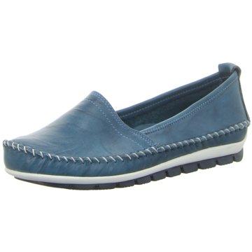Gemini Mokassin Slipper blau