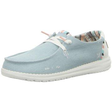 Hey Dude Shoes Mokassins SchnürschuhWendy blau