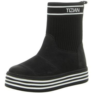 Tizian Plateau Stiefelette schwarz