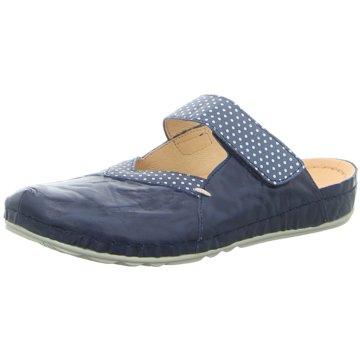 Pölking Komfort Pantolette blau