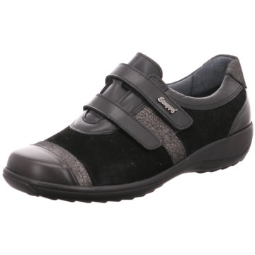 Stuppy Komfort Schnürschuh schwarz