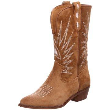 Alpe Woman Shoes Cowboystiefel braun