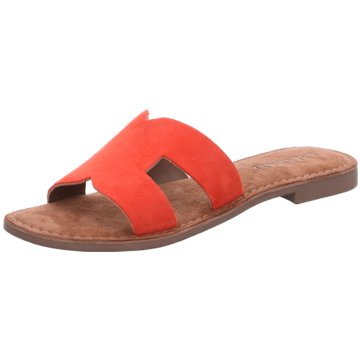 Lazamani Klassische Pantolette orange
