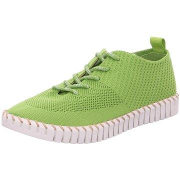 La Strada Sportlicher Schnürschuh grün