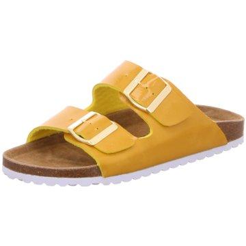 Idana Klassische Pantolette gelb