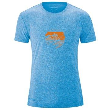Maier Sports T-ShirtsMYRDAL SUN - 152034 blau