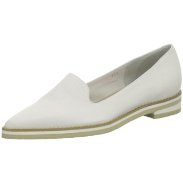Moda di Fausto Klassischer Slipper weiß