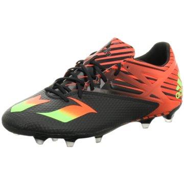adidas Nocken-SohleMessi 15.2 FG Herren Fußballschuhe Nocken rot/schwarz schwarz