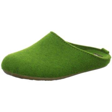 Haflinger Hausschuh grün