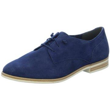 Tamaris Eleganter SchnürschuhSlipper blau