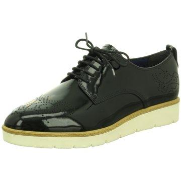 Tamaris Eleganter SchnürschuhSneaker schwarz