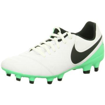 Nike Stollen-SohleTiempo Genio II Leather FG weiß