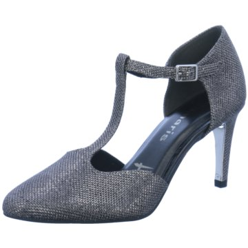 Tamaris T-Steg Pumps grau