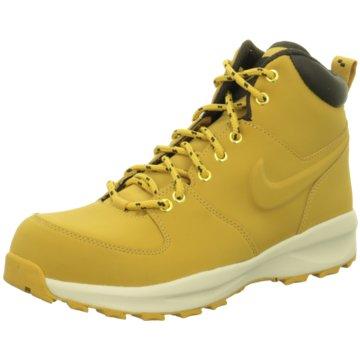 Nike Schnürstiefel gelb