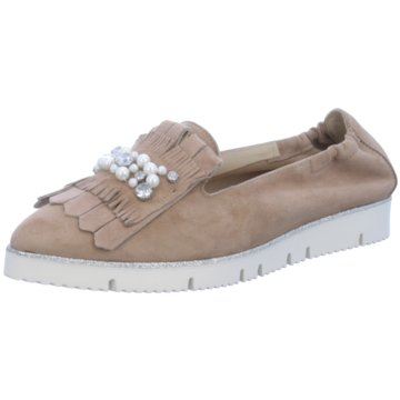 Alpe Woman Shoes Klassischer Slipper beige
