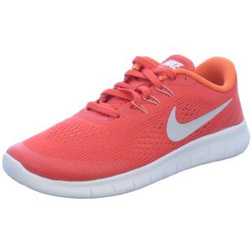 21bc769ed87b46 Nike Sneaker LowFree Run GS Kinder Laufschuhe Running orange rot