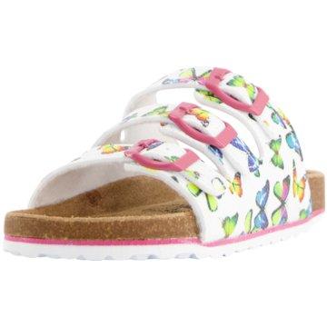 Indigo Offene Schuhe weiß