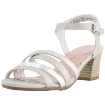 Idana Komfort Sandale silber