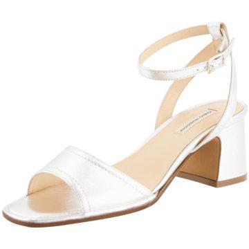 FABIO RUSCONI Sandalette silber