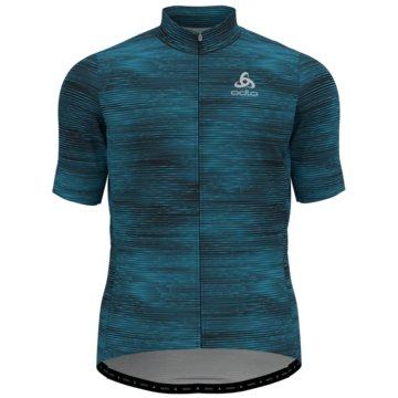 ODLO T-ShirtsSTAND-UP COLLAR S/S FULL ZIP E - 411782 blau