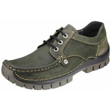 Wolky Komfort SchnürschuhSneaker oliv