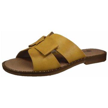 Remonte Komfort Pantolette gelb