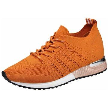 La Strada Sportlicher Schnürschuh orange