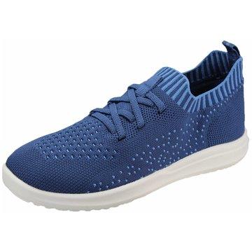 Pölking Sportlicher Schnürschuh blau