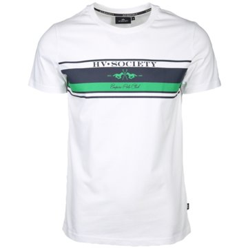 HV Society T-Shirts print weiß