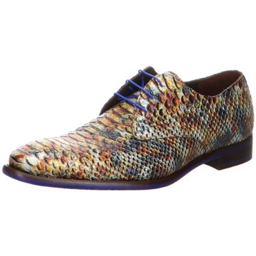Floris van Bommel Business SchnürschuhFloris Dressed Brown SnakePate animal
