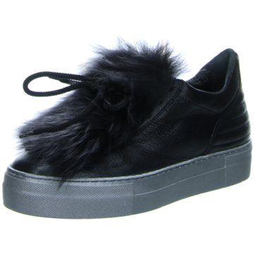 Donna Carolina Plateau Sneaker schwarz