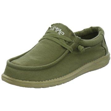 Hey Dude Shoes Mokassin Schnürschuh oliv