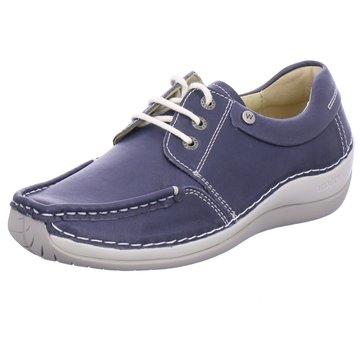 Wolky Komfort Mokassin blau