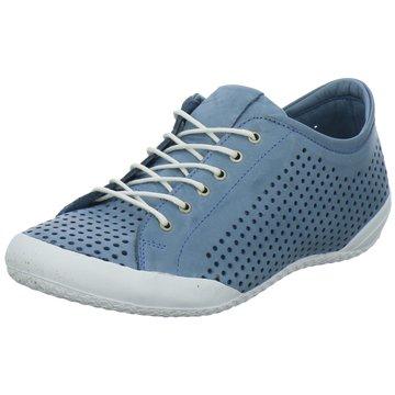 Esgano Komfort Schnürschuh blau