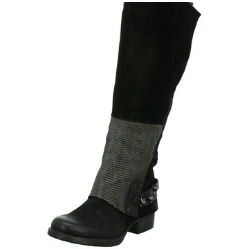 Mjus Klassischer Stiefel schwarz