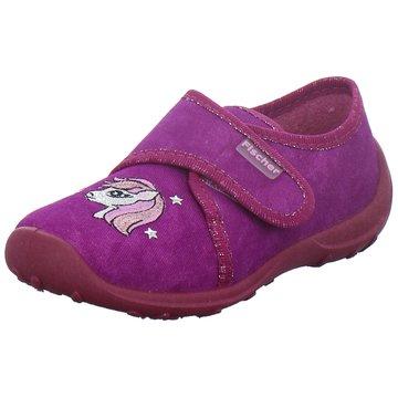 Fischer Schuhe Hausschuh lila