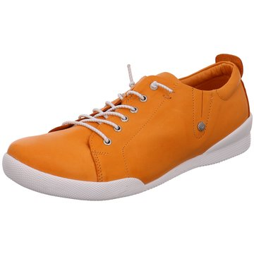 Andrea Conti Sportlicher Schnürschuh orange