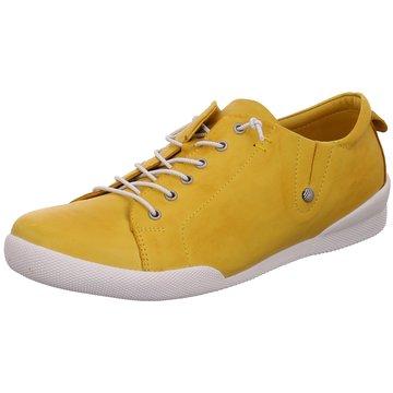 Esgano Sportlicher Schnürschuh gelb