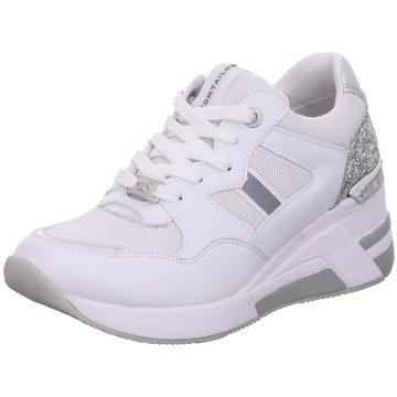 Tom Tailor Sneaker Wedges weiß