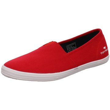 Tom Tailor Sportlicher Slipper rot